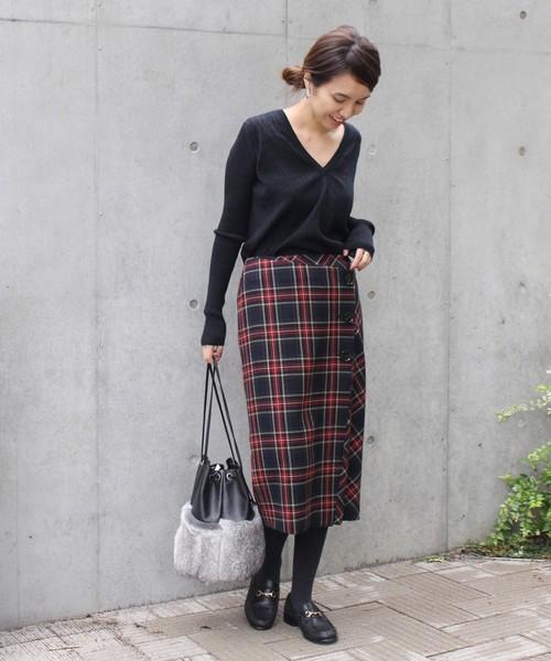 [Spick & Span] BUTTON スカート2◆