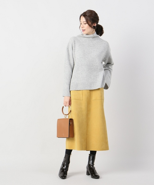 ロング丈 スエード素材 スカート