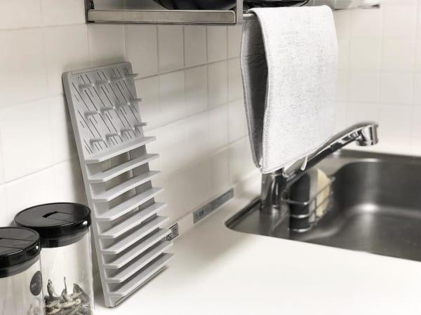 使いたい時だけサッと取り出して使える、便利な「水切り吸水マット2点セット」10
