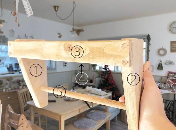 木材を組み立てていきます。