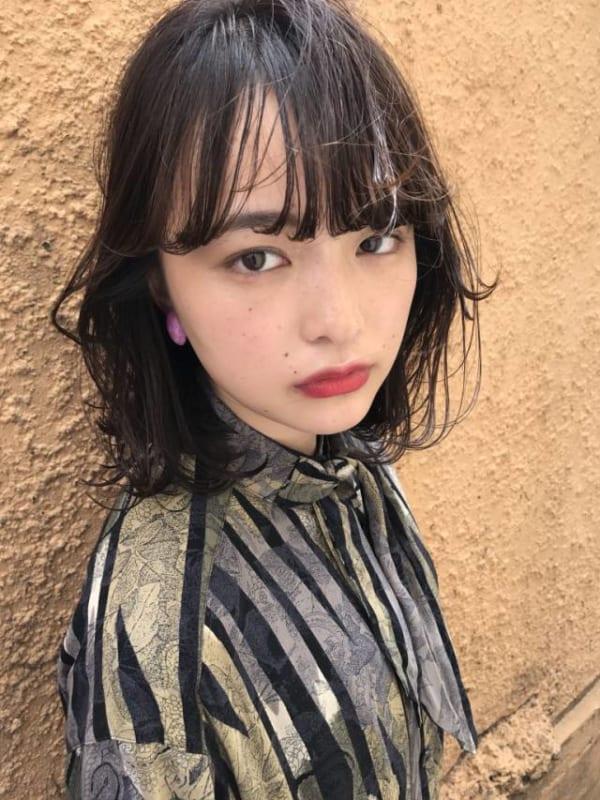 ぱっつんボブ 黒髪7