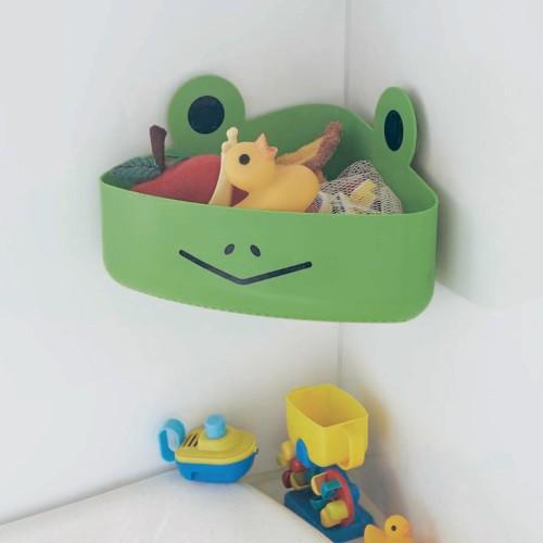 カエルのおもちゃ入れを使って