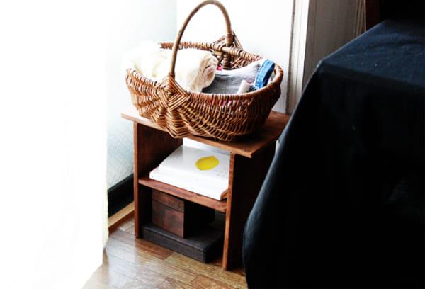 手作りブックスタンド サイドテーブル