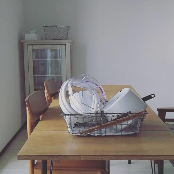 キッチンのかご収納アイデア16