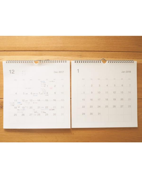 カレンダーだってシンプル&機能的に