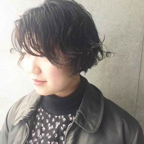 40代におすすめ黒髪パーマ5