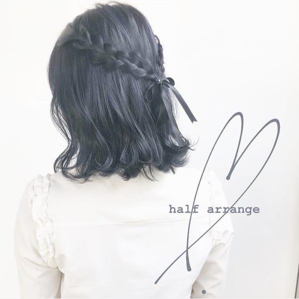黒髪に似合うボブスタイル
