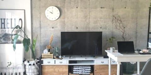 無骨な雰囲気がおしゃれ☆コンクリート壁&壁紙でインテリアをグレードアップ