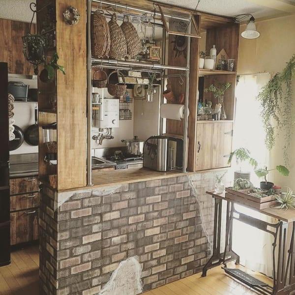 憧れのキッチンカウンターをDIY♪12