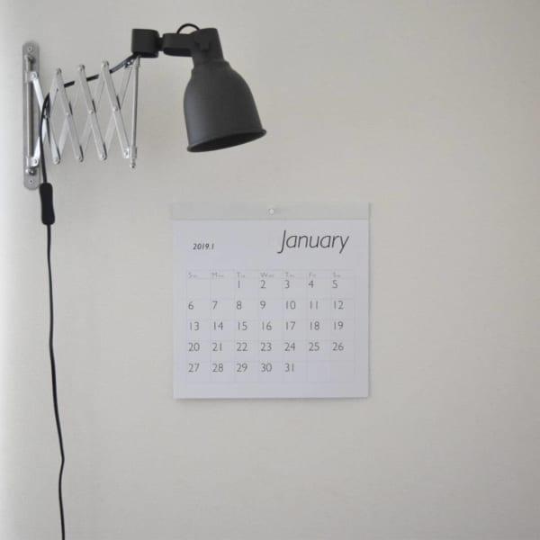 シンプルデザインが嬉しい!カレンダー2