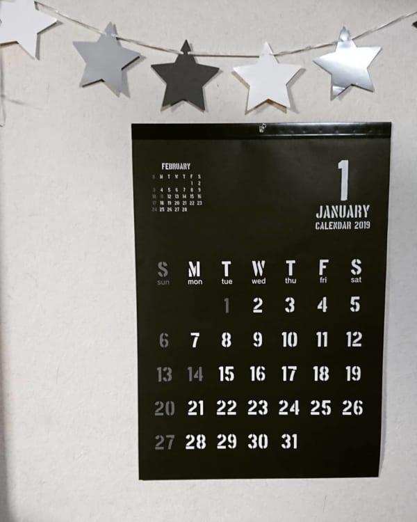 シンプルデザインが嬉しい!カレンダー4