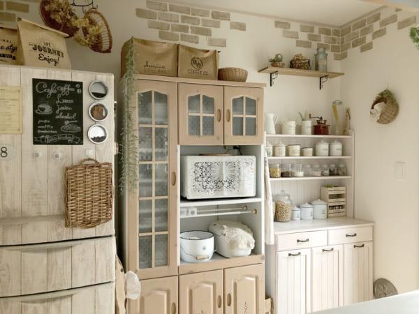 キッチンのかご収納アイデア17