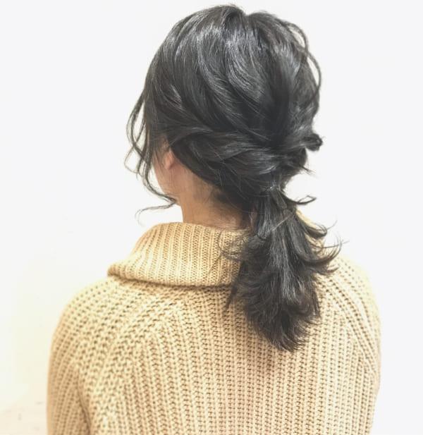 簡単なのにこなれ感たっぷりまとめ髪2