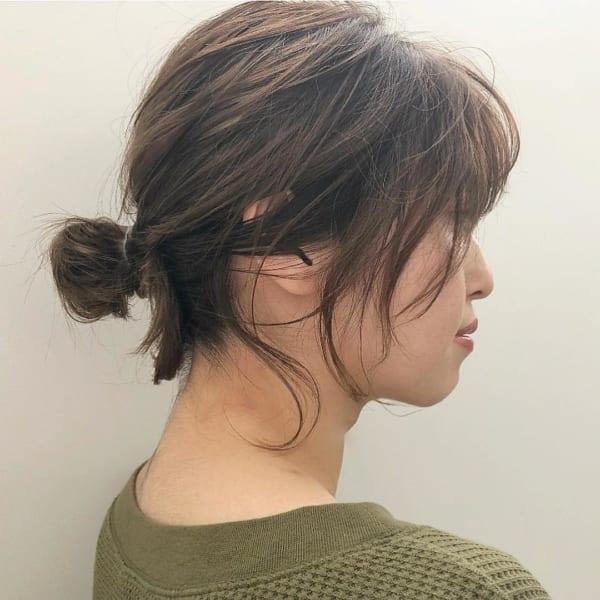 ボブ まとめ髪 デイリースタイル 3