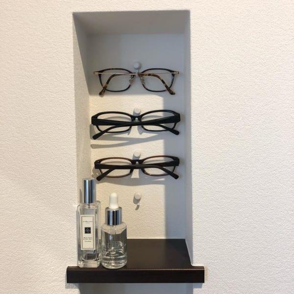 メガネは見せる収納に