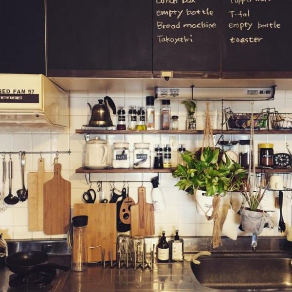 素材やデザインにこだわることで、よりオシャレなキッチンに2
