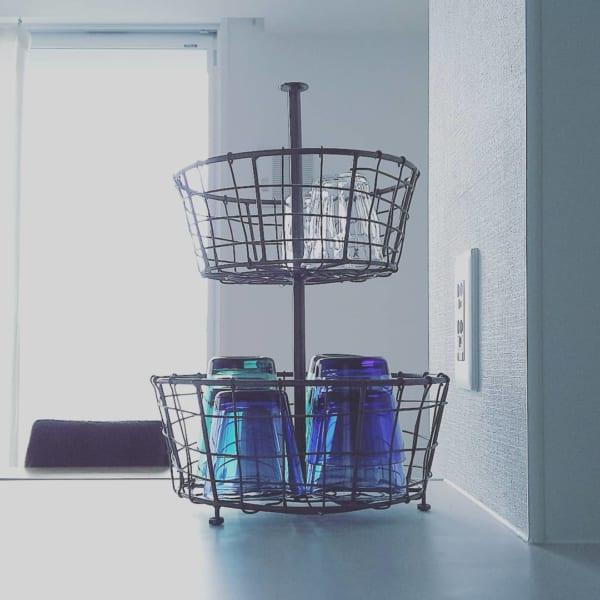 キッチンのかご収納アイデア15