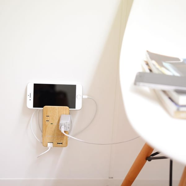 壁挿し電源タップを使って
