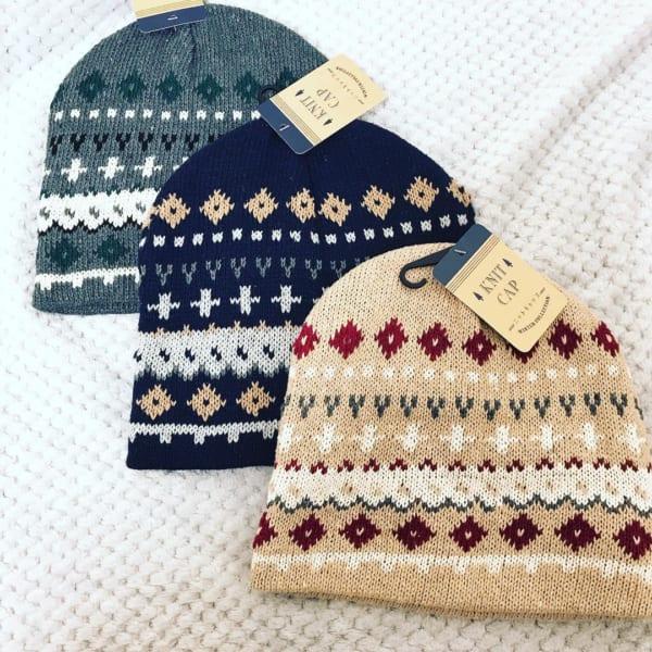 セリアのニット帽&手袋