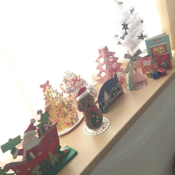クリスマスカードを飾って