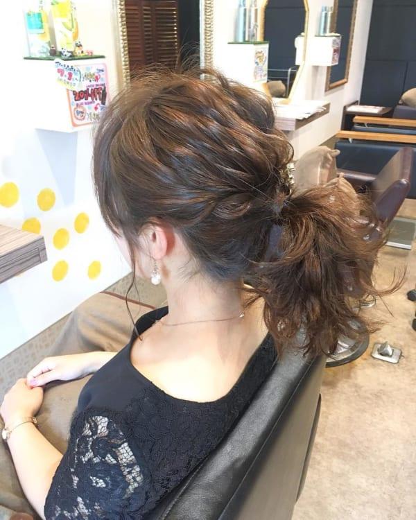 簡単なのにこなれ感たっぷりまとめ髪3