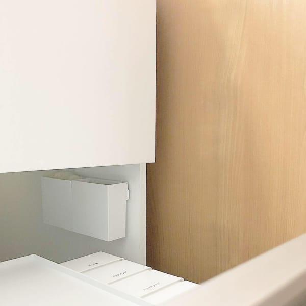 洗面台:引き出しの隙間スペースを有効活用
