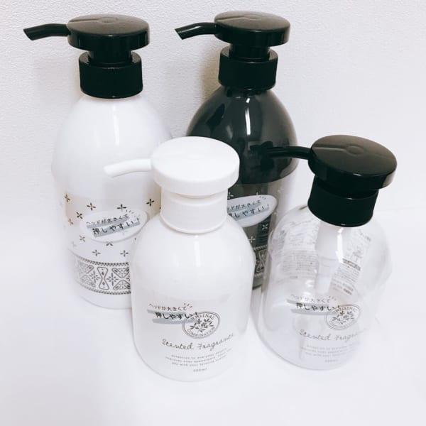 【セリア】のハンドソープ・シャンプー・洗剤ボトル5