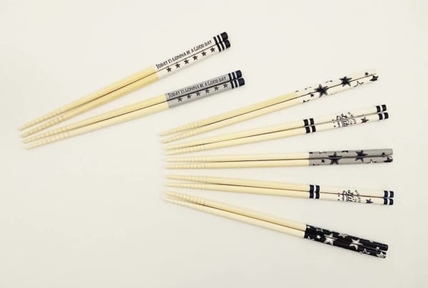 竹塗箸2P・5P/スターズ、スターライト(キャンドゥ)