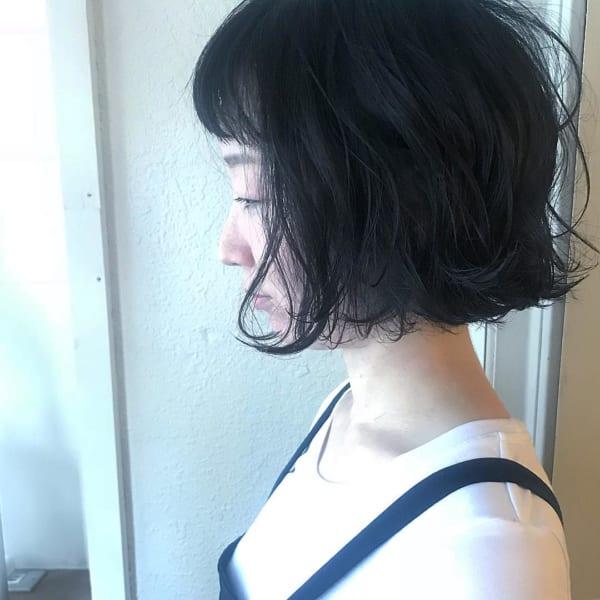 前髪ありボブのパーマスタイル24