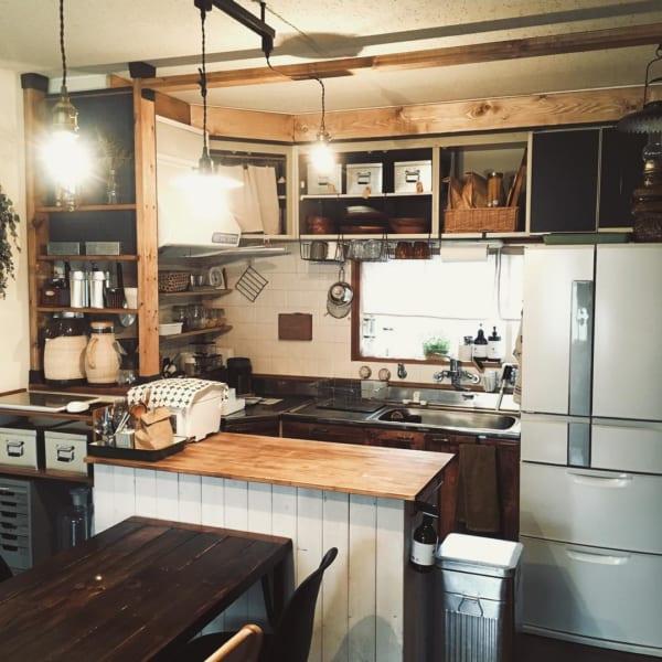憧れのキッチンカウンターをDIY♪41