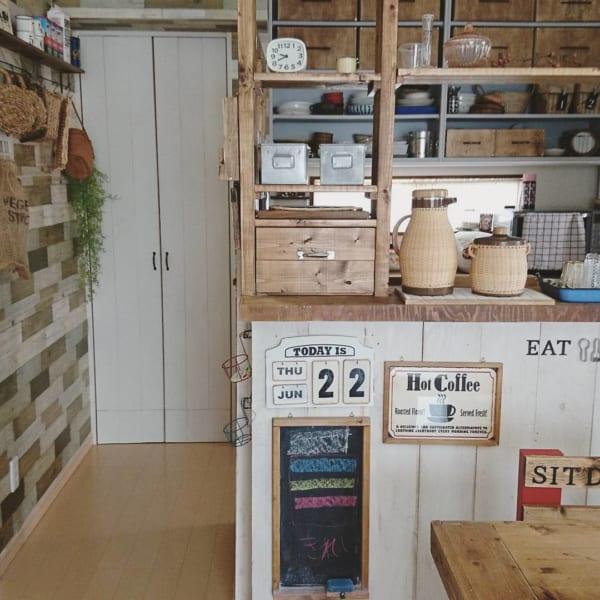 憧れのキッチンカウンターをDIY♪43