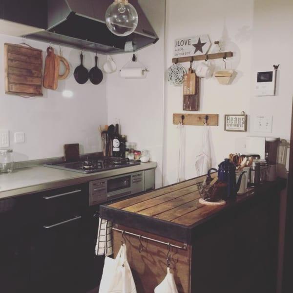 憧れのキッチンカウンターをDIY♪50