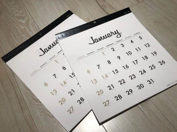 モノトーンカレンダー