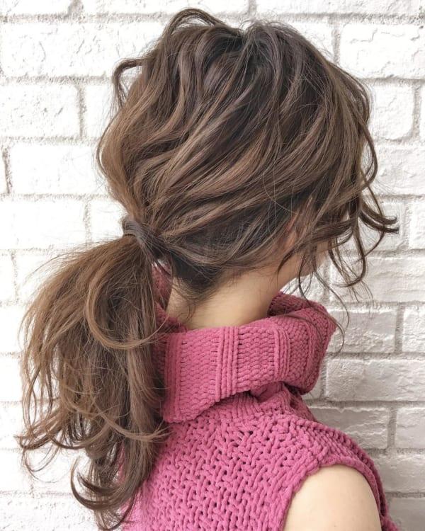 簡単なのにこなれ感たっぷりまとめ髪5