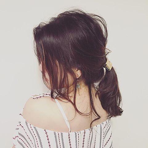 簡単なのにこなれ感たっぷりまとめ髪6