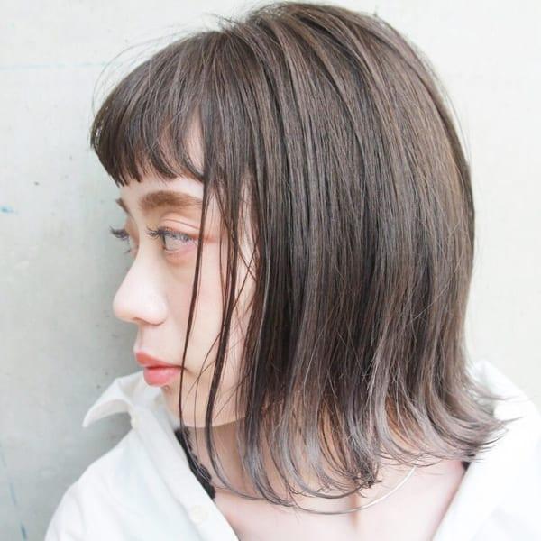 前髪ありボブのパーマスタイル7