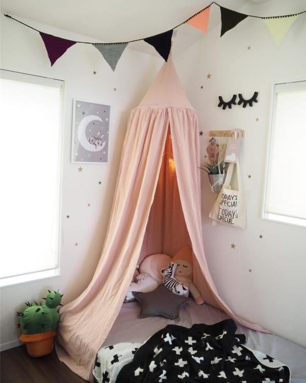 キッズ用ベッドにスリーピングカーテンとして