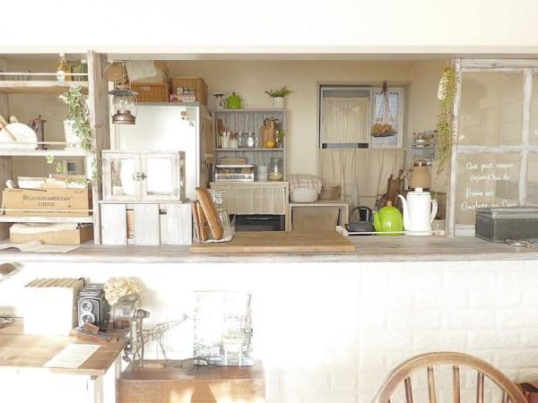 憧れのキッチンカウンターをDIY♪5