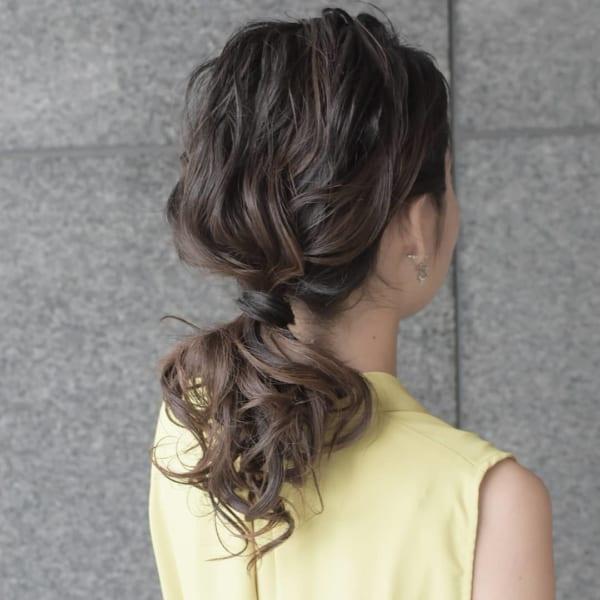 簡単なのにこなれ感たっぷりまとめ髪7