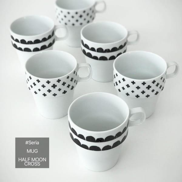 セリア 北欧柄 マグカップ