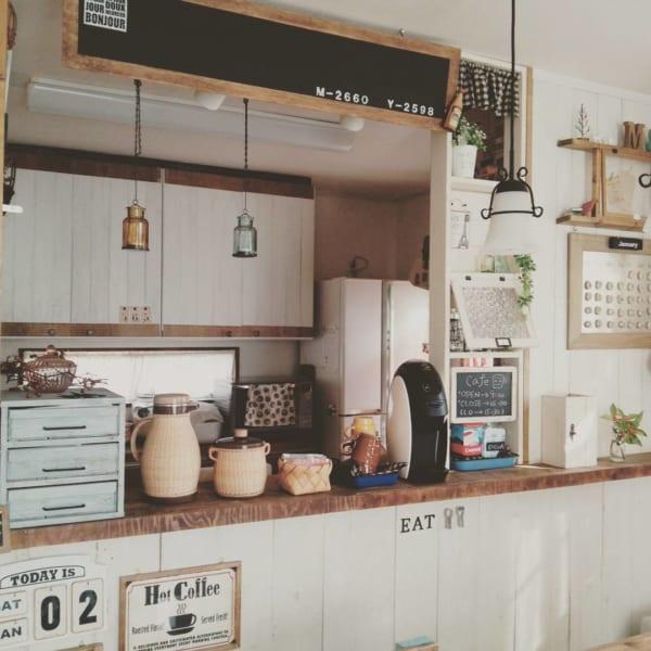 憧れのキッチンカウンターをDIY♪6