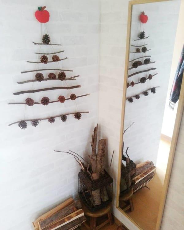 「流木・枝の壁掛けツリー」を飾ろう!2