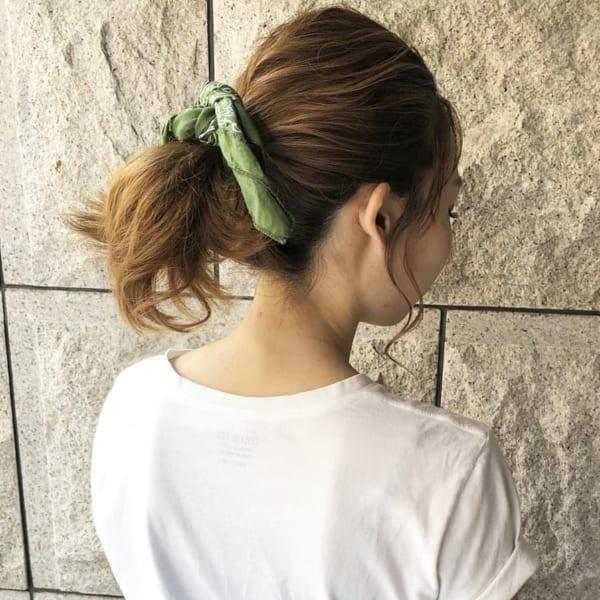 簡単なのにこなれ感たっぷりまとめ髪8