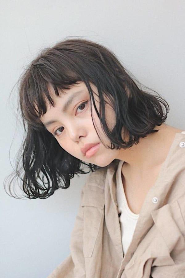 ぱっつんボブ 黒髪8