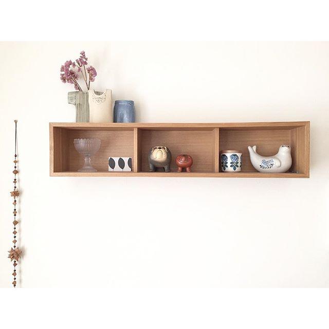 壁に付けられる家具 箱・3マス