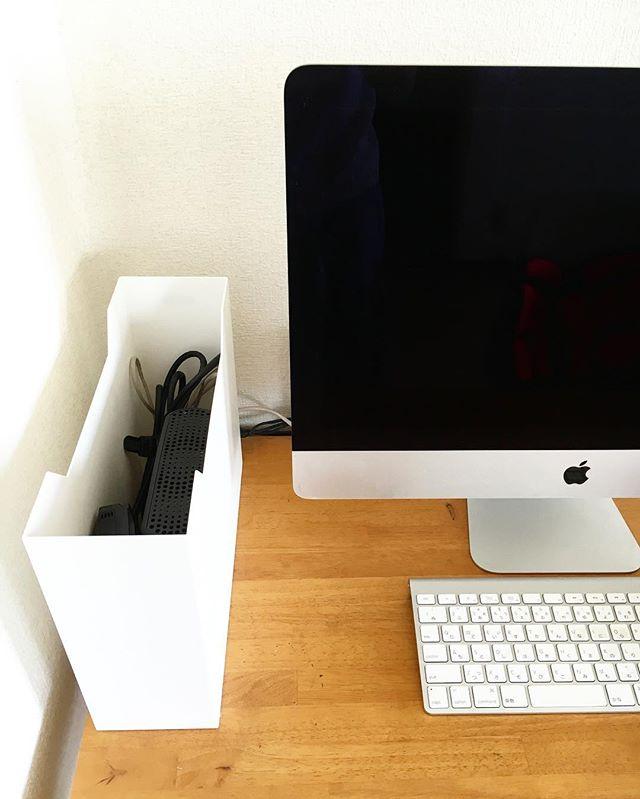 収納ボックスを用いた配線ケーブルの収納3