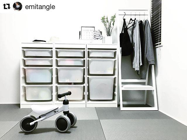 置き家具のハンガーラック5