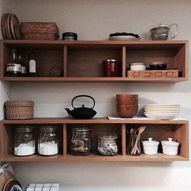 無印の壁に付けられる家具は収納に便利!2