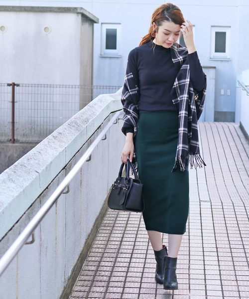 [reca] 全7色ウエストゴムリブスウェットスカート
