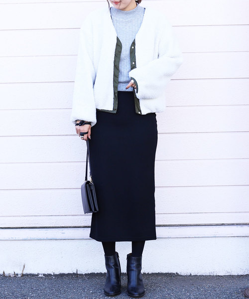全7色ウエストゴムリブスウェットスカート